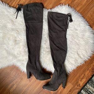 Catherine Malandrino over the knee grey boots